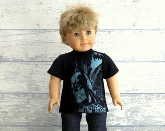 Boy Doll Clothes Graphic Tee Shirt, American Boy Doll T Shirt, Comic Book Shirt
