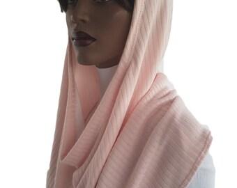 Koul SHôl™ Head Hoodie Pink Cable Sweater Knit Cowl Hoodie Fully Lined Hoodie Hijab Hoodie Handmade