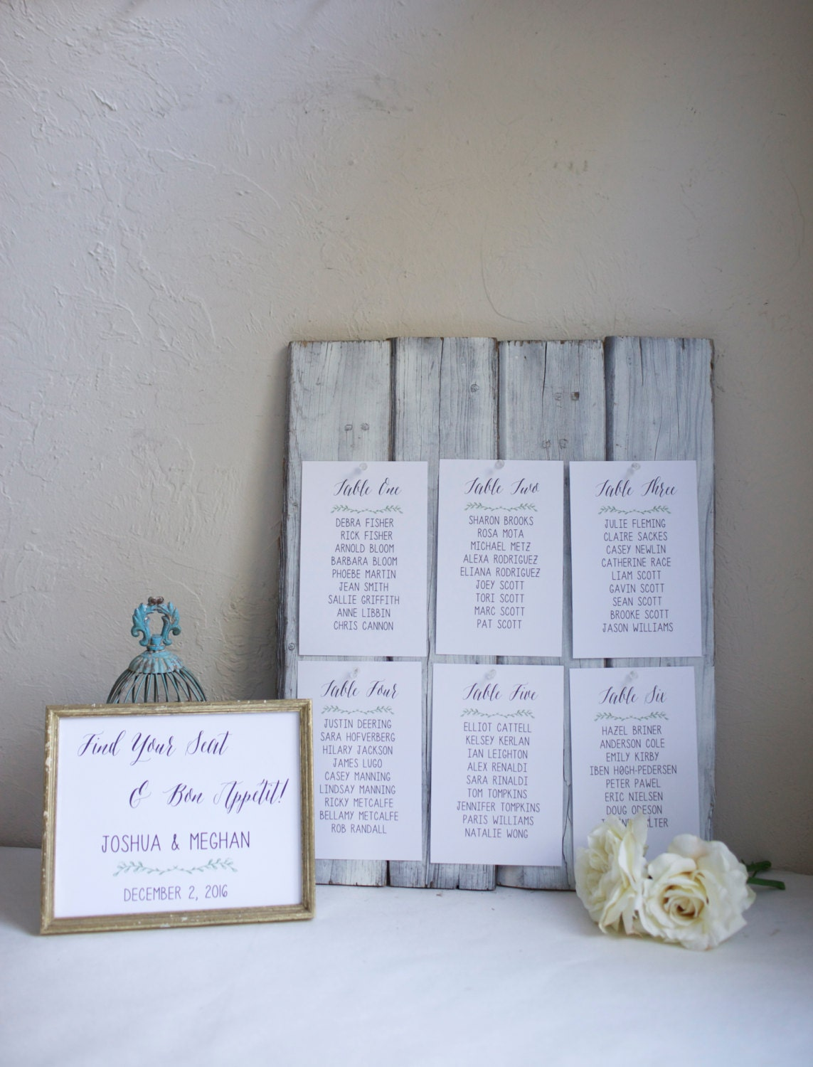 Printable Wedding Seating Chart. Choose Digital Download or Print & Ship. Custom personalized seating. Table numbers or names. Escort cards