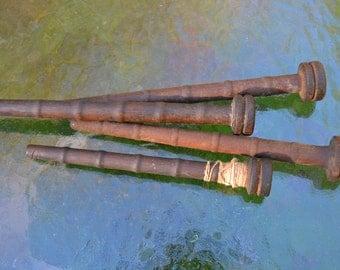 Set of 4 Vintage Wood Spools