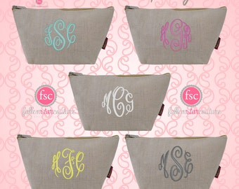 Jute bridesmaid bags , bridesmaid make-up bags, monogrammed bag, wedding bag , bridesmaid gifts , personalized bridesmaid gifts