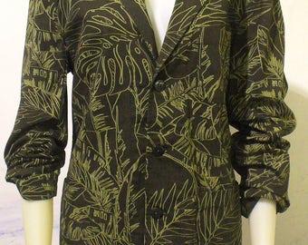 Tropical Army Green Blazer