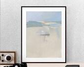 Hazy Beach Print, Digital Download, Printable Beach Art, Instant Download, Beach Cottage Deco, Hazy, Misty Beach Art, Coastal, Beach Lover