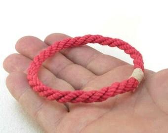 red rope bracelet slender cotton cord grommet bracelets soft bangle bracelet nautical bracelet 2443