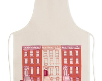 Red Brownstone Apron