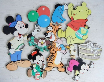 Mickey Mouse Disney Pin-Ups Kids Decor | Walt Disney Characters Tigger Pooh | Mickey Mouse Cardboard Wall Decor | Die Cut Disney Nursery