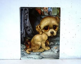 Pity Puppy Print | Big Eyed Puppy | Gig Pity Puppy K208 | Sad Eyes Puppy