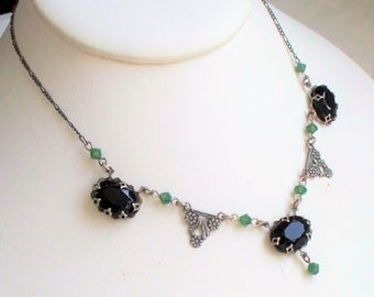 Victorian Revival Glass Necklace
