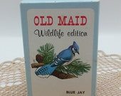 Vintage Old Maid Wildlife Edition Cards Game  OLD MAID No. 2003 by National wildlife Federation,Blue Jay,Bear,Trout,Cardinal,Duck,Moose,Deer