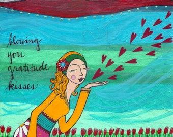 Greeting Card : Gratitude Kisses
