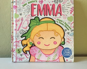Emma hardcover book for children toddler baby Jane Austen Little Literary Classics 8.5 by 8.5 inches
