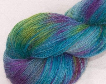 Hand dyed yarn, Alpaca, Lambswool, Hand painted yarn, Indie dyed, Alpaca yarn,  625 yards skein - colour: Quest