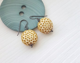 freckles earrings - vintage lucite and sterling