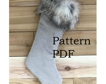 Updated Pattern - Instant Download Christmas Stocking  - So easy, even a beginner can make this stocking - PDF sewing pattern and tutorial