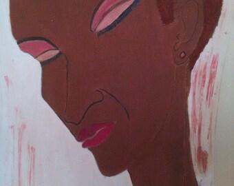 Memories of a  black woman art,african american art, black woman art,afrikkan art, black woman paintings, wall decor, wall art, womans room