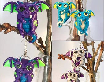 Design Your Own Dragon Buddy Earrings *Custom Order* *Made To Order*
