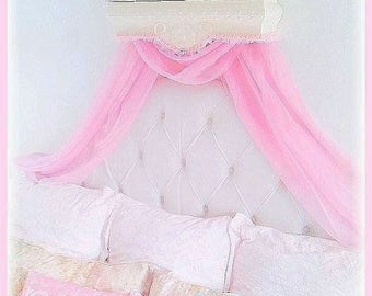 Canopy Scarf for your Bed Crown/ Princess Party Dessert Table/Event Crown Canopy Decor/ Bridal Shower/ Baby Shower/Nursery/Princess Room