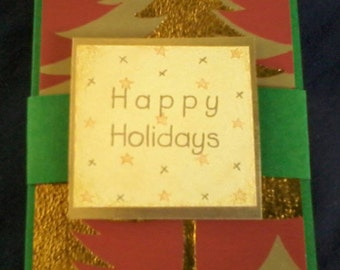 Gift Card Holder, Money Holder, Happy Holidays, Recycled Paper Craft, Money Envelope, Gift Card Packaging, Gift Envelope, Christmas Trees