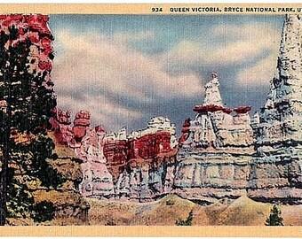 Utah Vintage Postcard - Queen Victoria at Bryce Canyon National Park (Unused)