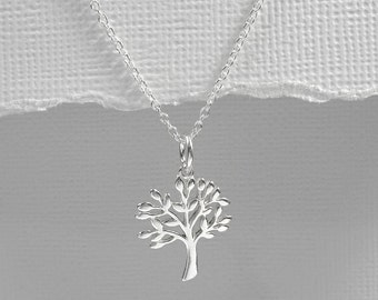 Tree of Life Necklace, Sterling Silver Tree of Life Necklace, Gift for Mom, Gift for Grandmother, Christmas Gift, Gift for Wife