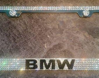 BMW License Plate Frame made with Swarovski Crystals - BMW Car Jewelry