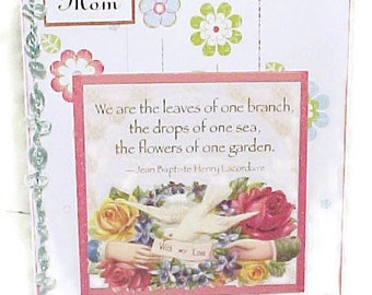 Hand Crafted Mother's Day Card-Vintage Image