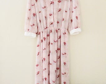 80's Pink Sheer Dress