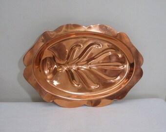 Vintage Copper Steak Plate