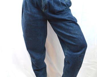 Vintage 80s Denim Baggy Harem Jeans by Squeeze Jeans