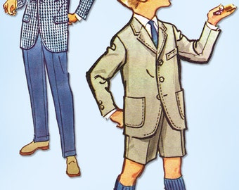 1950s Vintage McCall's Sewing Pattern 4814 Uncut Toddler Boys Suit Size 6
