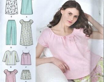 UNCUT Simplicity 2-Hour Misses Sleepwear Pattern Size XS-S-M