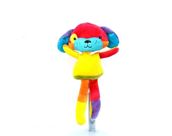 Rainbow Puppy Dog Plush Toy