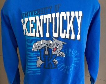 Kentucky Wildcats 1980s vintage sweatshirt - blue size large