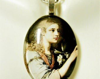 Archangel Gabriel pendant with chain - GP04 -304 cameo style