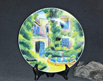 New Orleans Souvenir Plate / Courtyard Little Theatre New Orleans Porcelain Plate / 1960s NOLA Souvenir Plate