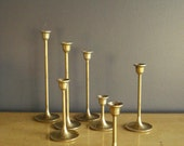 Brass Stairsteps - Vintage Brass Candle Holders - Set of SEVEN (7)