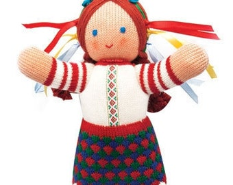 Ukrainian Eco Friendly Handmade Knit Folk Doll Girl
