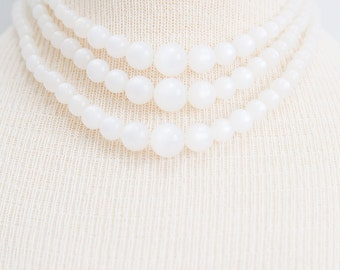 Triple Strand Moonglow Necklace