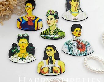 5Pcs Mini Handmade Mexico Woman Charms / Pendants (CW073)