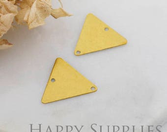 20Pcs High Quality Triangle Pendant Charms / Connector with Two Hole (ZG319)