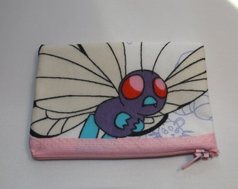 Pokemon-Butterfree- Coin Purse-Handmade