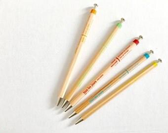 Ballpen super fine line writing tool, black ink, pencil like wooden shape, gift for french lover, Tous les Jours ballpoint pens