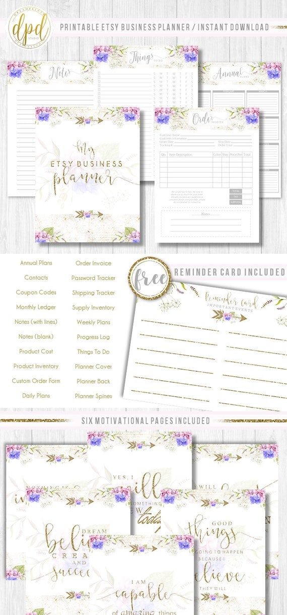 """Premade Etsy Business Planner 