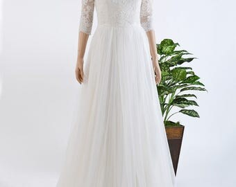 Wedding jacket, lace bolero, wedding bolero, bolero jacket, Boat neck bolero, ivory Alencon Lace bolero jacket