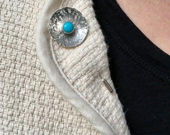 Sterling Silver Stick Pin Brooch