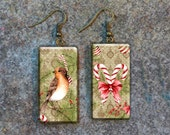 Christmas polymer clay earrings