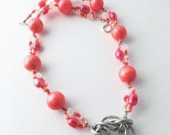 Modern Aluminum Pendant Necklace