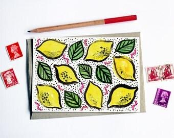 Fruity Lemon Card