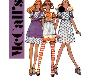 McCall's 3105 Raggedy Anne Dress Apron Bloomers Size 11 -12 Young Junior Teen Bust 32 inches