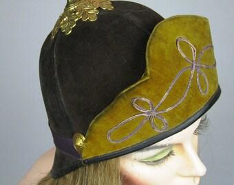 Antique Prussian Military Pickelhaube Cap ~ Very 1920s Deco Look